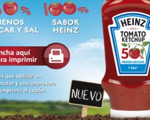 Cupones descuento Heinz. Tomate, ketchup, mayonesa, beans. Supermercados. Ahorro. Cesta de la compra.