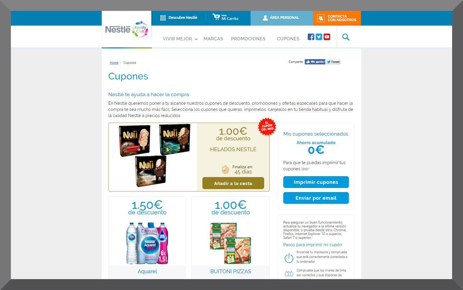 Nestle agclv - Vales y cupones