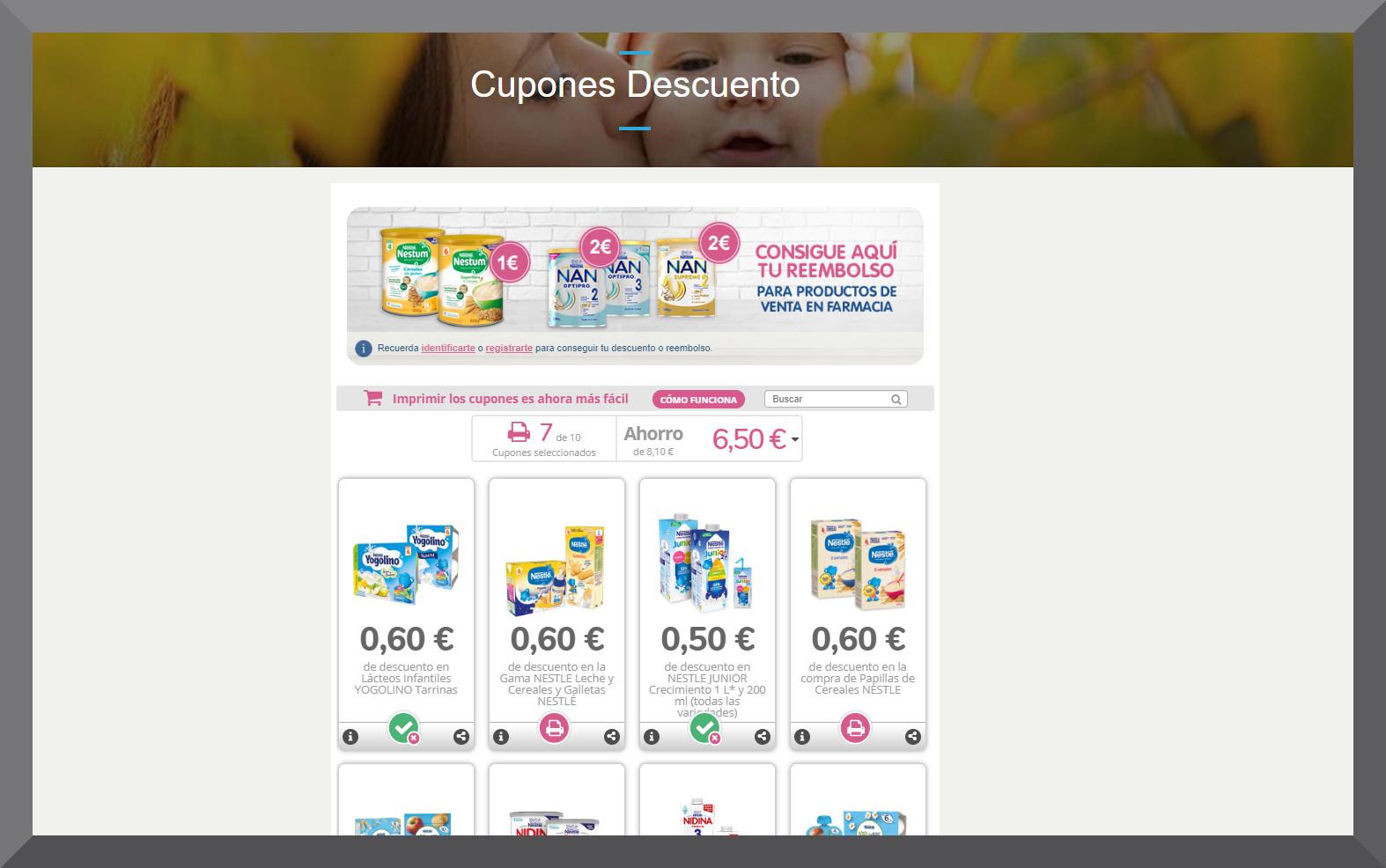 Nestle bebe - Vales y cupones